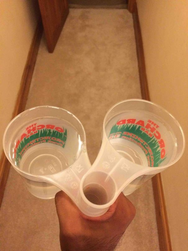 These Glasses Are Designed So You Can Carry Several At The Same Time