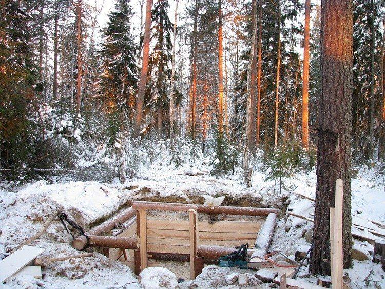 Строительство зимовья своими руками фотоотчет