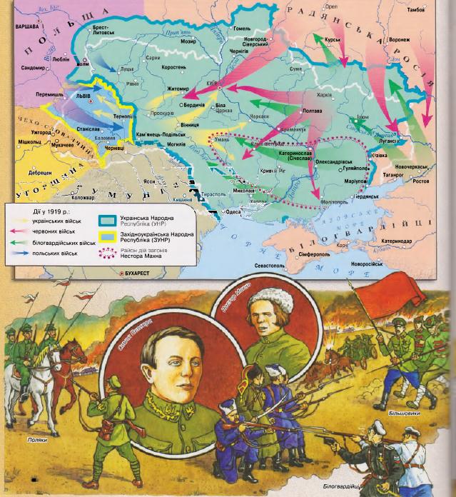 За что бились белогвардейцы, большевики и поляки в 1917 году? За Украину.