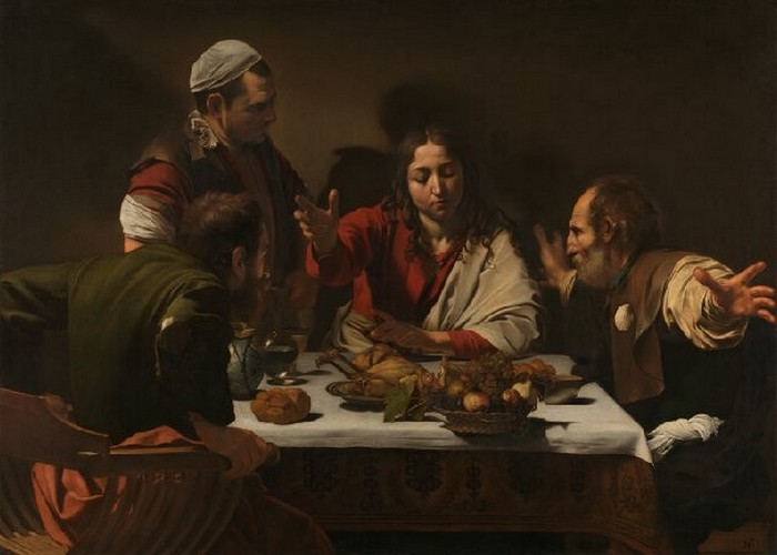 Фрагмент картины «Ужин в Эммаусе», 1602 год.