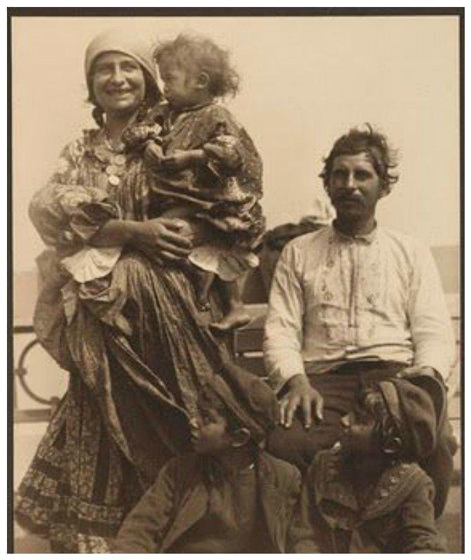 Румынские цыгане, 1902 америка, иммигранты, исторические фото, история, остров Эллис, факты