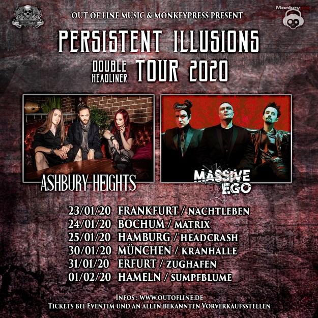 Ashbury Heights und Massive Ego auf Tour