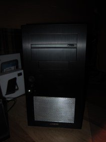 The front panel mounted on the case