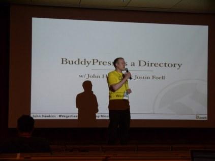 Justin kicks off the BuddyPress as a Directory talk