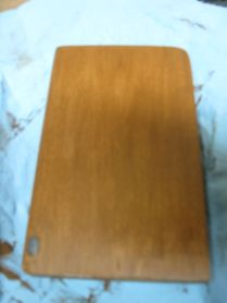 After removal of the second layer of stain gell.