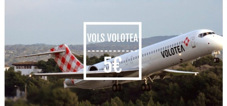 100 000 billets d'avion Volotea à 5€ !