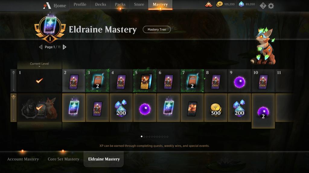 Eldraine Mastery Reward Page 1