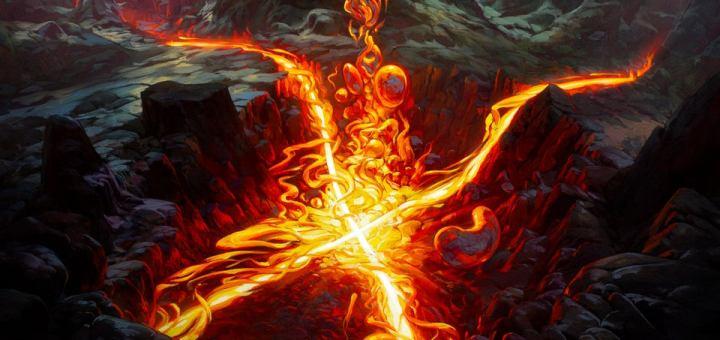 Leyline of Combustion Art by Noah Bradley