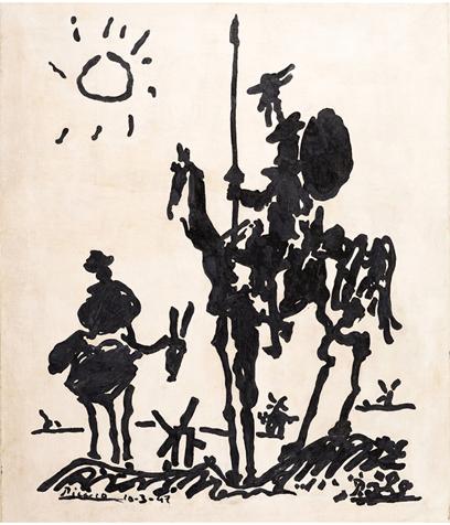 Picasso, Pablo - Don Quixote -1955