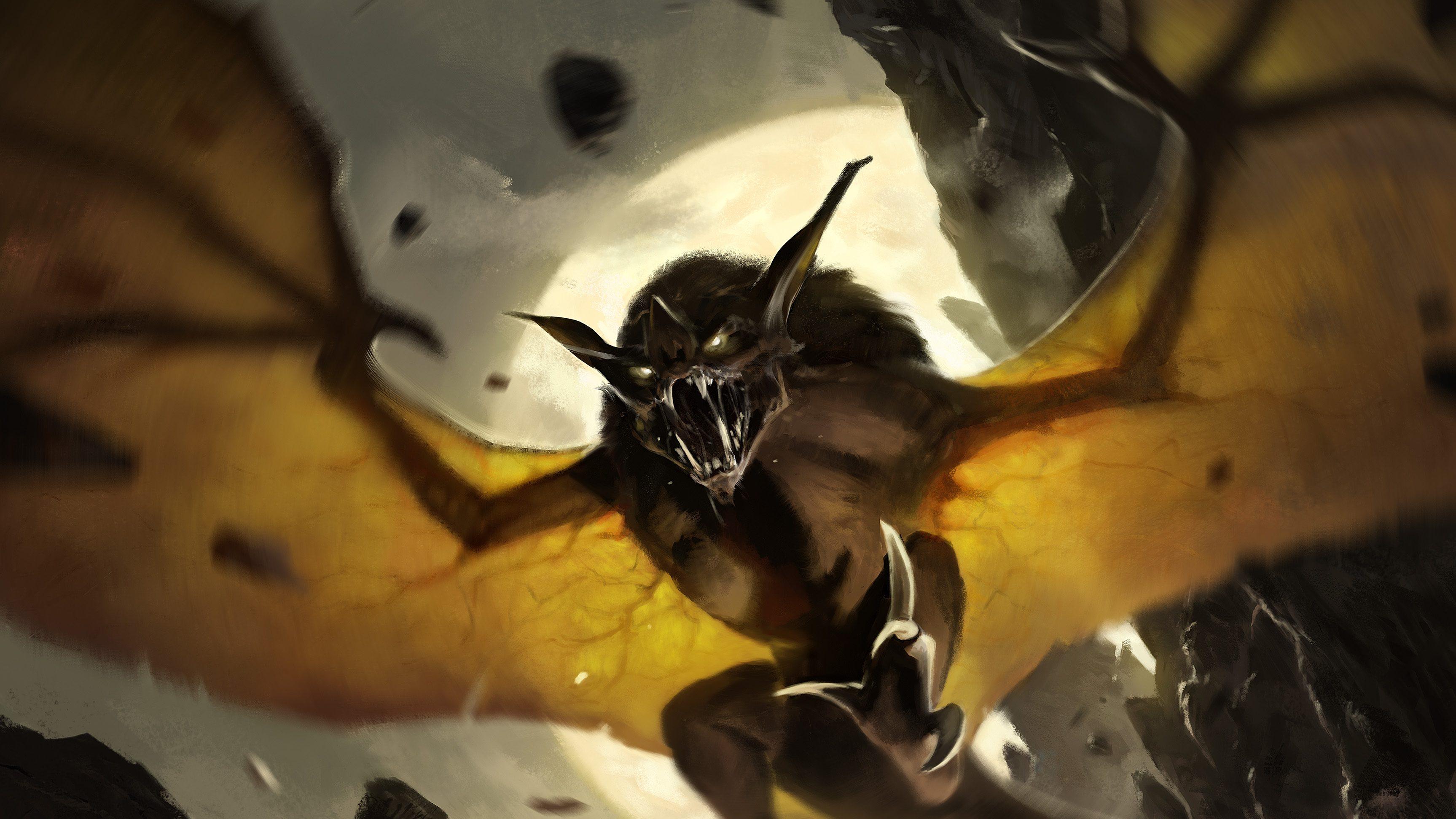 Dirge Bat Art by Paul Scott Canavan