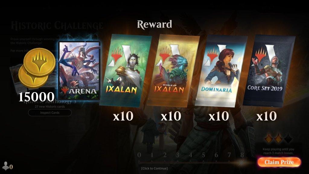 Historic Challenge 8 Win Rewards - June 2020
