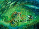 Sea-Dasher Octopus Art by Chris Seaman