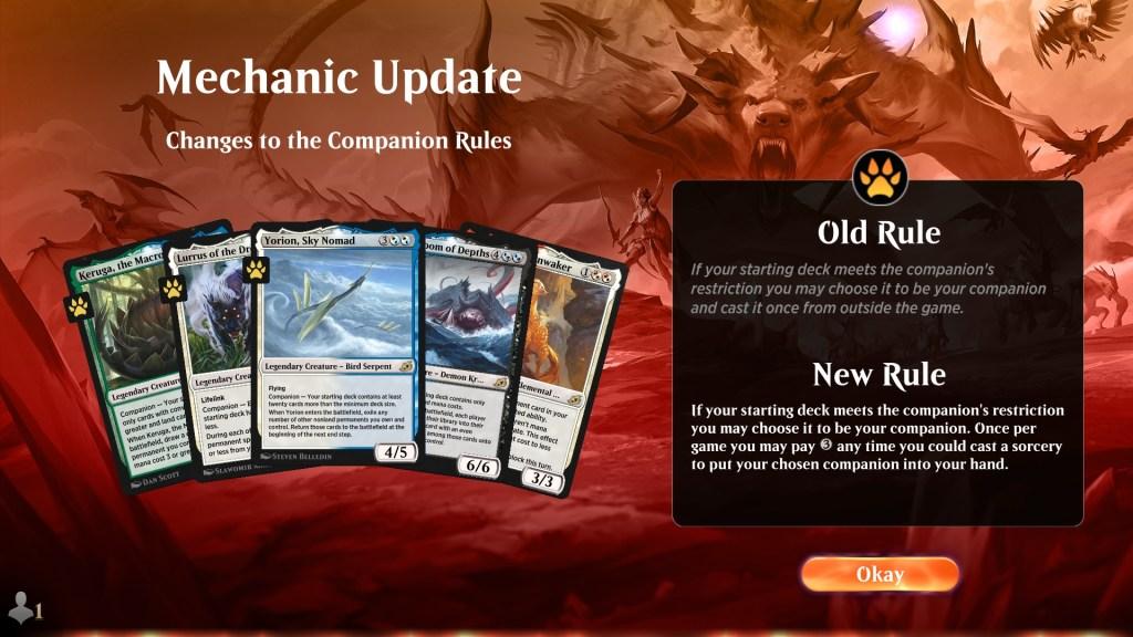 Companion Mechanic Update