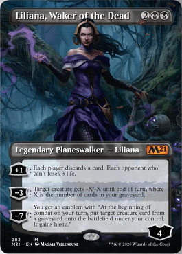 Liliana, Waker of the Dead Spoiler Card Style 2