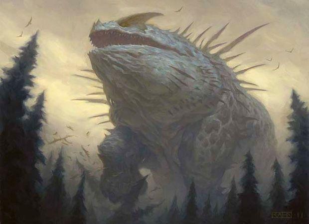 Craterhoof Behemoth Art by Chris Rahn