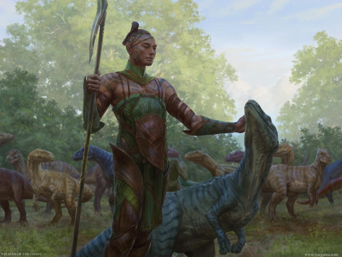 Allosaurus Shepherd Art by Randy Vargas