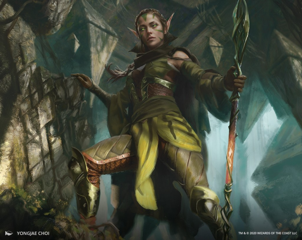 Nissa of Shadowed Boughs Art by Yongjae Choi