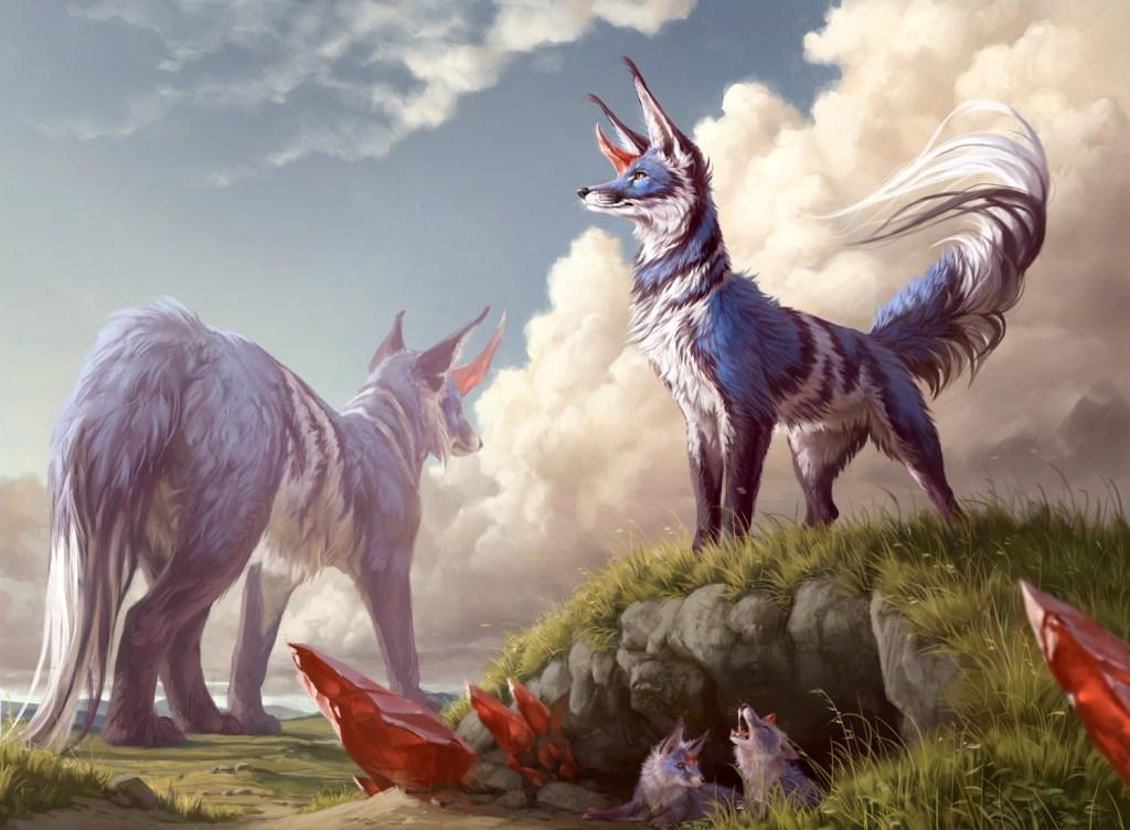 Flourishing-Fox-Ikoria-MtG-Art