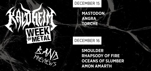Week of Metal Schedule