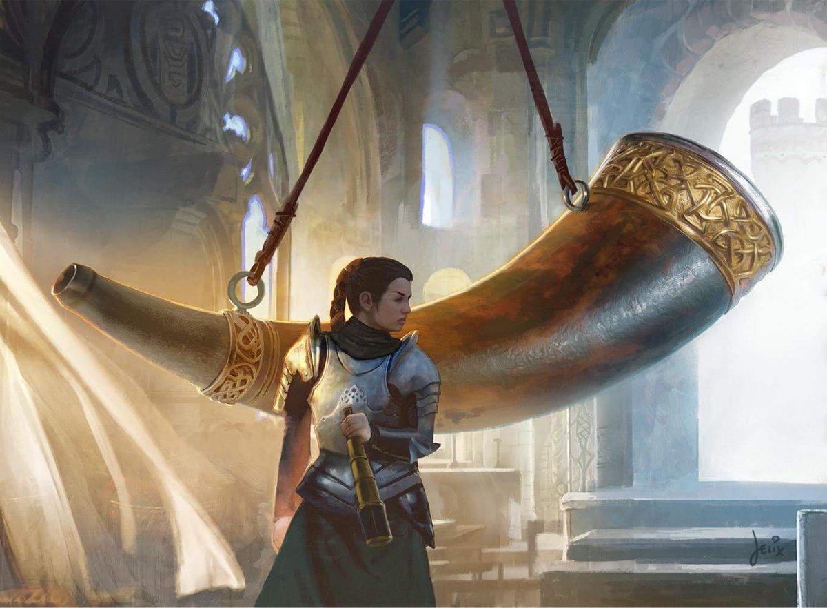 Heralds-Horn-MtG-Art