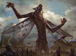The Locust God Art by Lius Lasahido