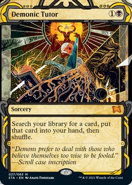 027 Demonic Tutor Mystical Archives Spoiler Card