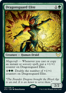 127 Dragonsguard Elite Strixhaven Spoiler Card