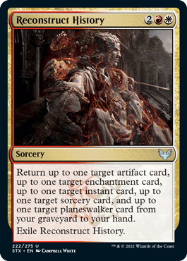 222 Reconstruct History Strixhaven Spoiler Card