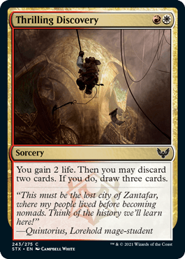 243 Thrilling Discovery Strixhaven Spoiler Card
