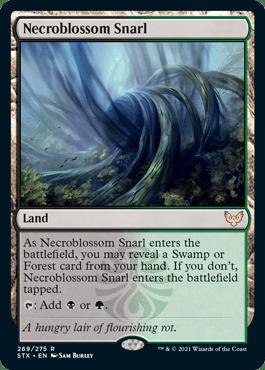 269 Necroblossom Snarl Strixhaven Spoiler Card