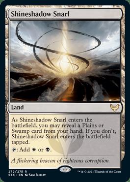 272 Shineshadow Snarl Strixhaven Spoiler Card