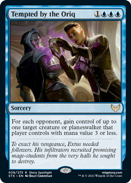 058 Tempted by the Oriq Strixhaven Spoiler Card