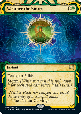 058 Weather the Storm Mystical Archives Spoiler Card