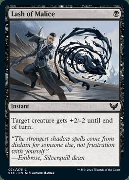 074 Lash of Malice Strixhaven Spoiler Card