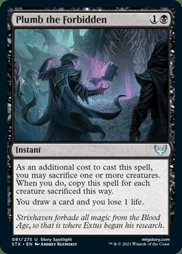 081 Plumb the Forbidden Strixhaven Spoiler Card