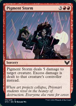 111 Pigment Storm Strixhaven Spoiler Card
