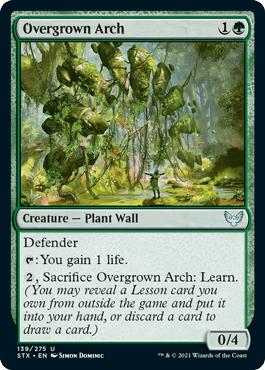 139 Overgrown Arch Strixhaven Spoiler Card
