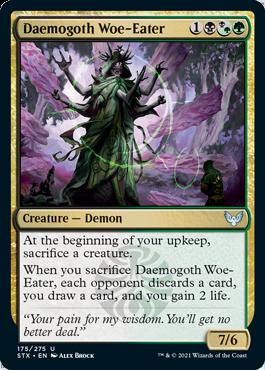 175 Daemogoth Woe-Eater Strixhaven Spoiler Card