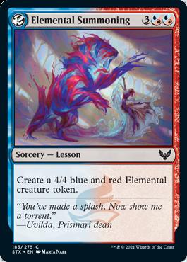 183 Elemental Summoning Strixhaven Spoiler Card