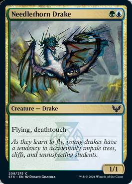 208 Needlethorn Drake Strixhaven Spoiler Card
