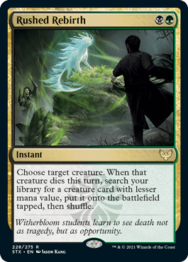 228 Rushed Rebirth Strixhaven Spoiler Card
