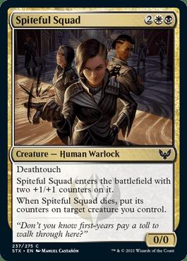 237 Spiteful Squad Strixhaven Spoiler Card