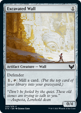 255 Excavated Wall Strixhaven Spoiler Card