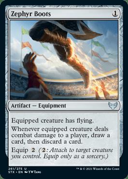 261 Zephyr Boots Strixhaven Spoiler Card