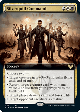 STX 352 Silverquill Command Extended Art