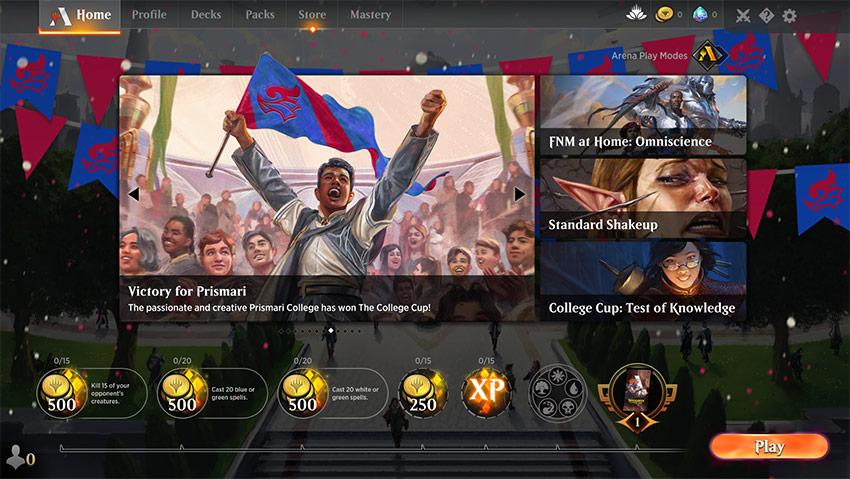 College Victory Celebration