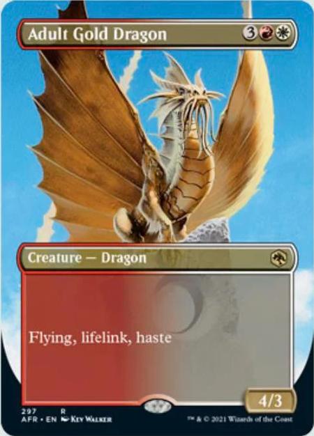 AFR 297 Adult Gold Dragon Borderless