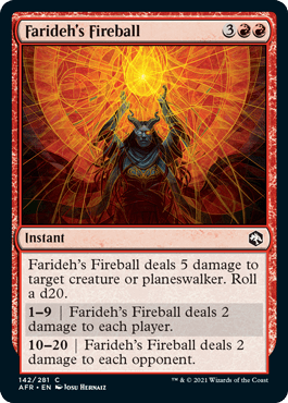 AFR 142 Farideh's Fireball Main