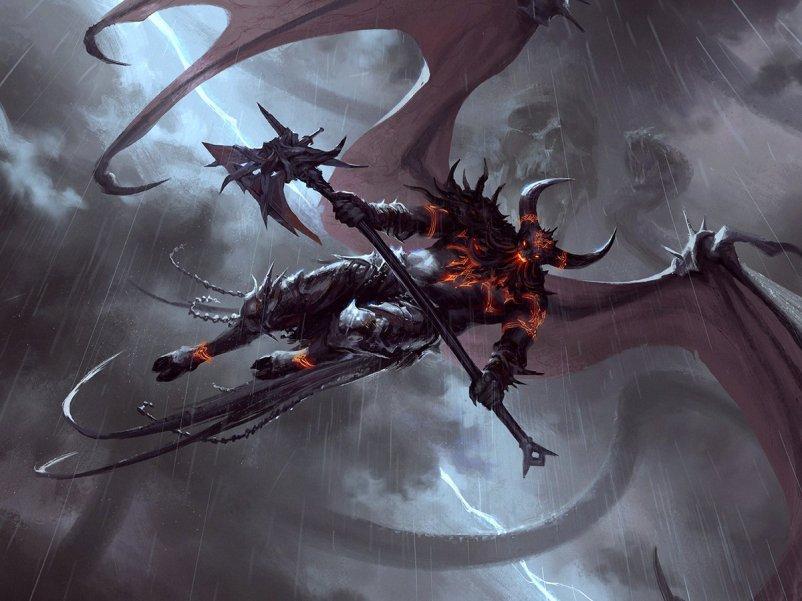 Burning-Rune Demon Art by Andrew Mar