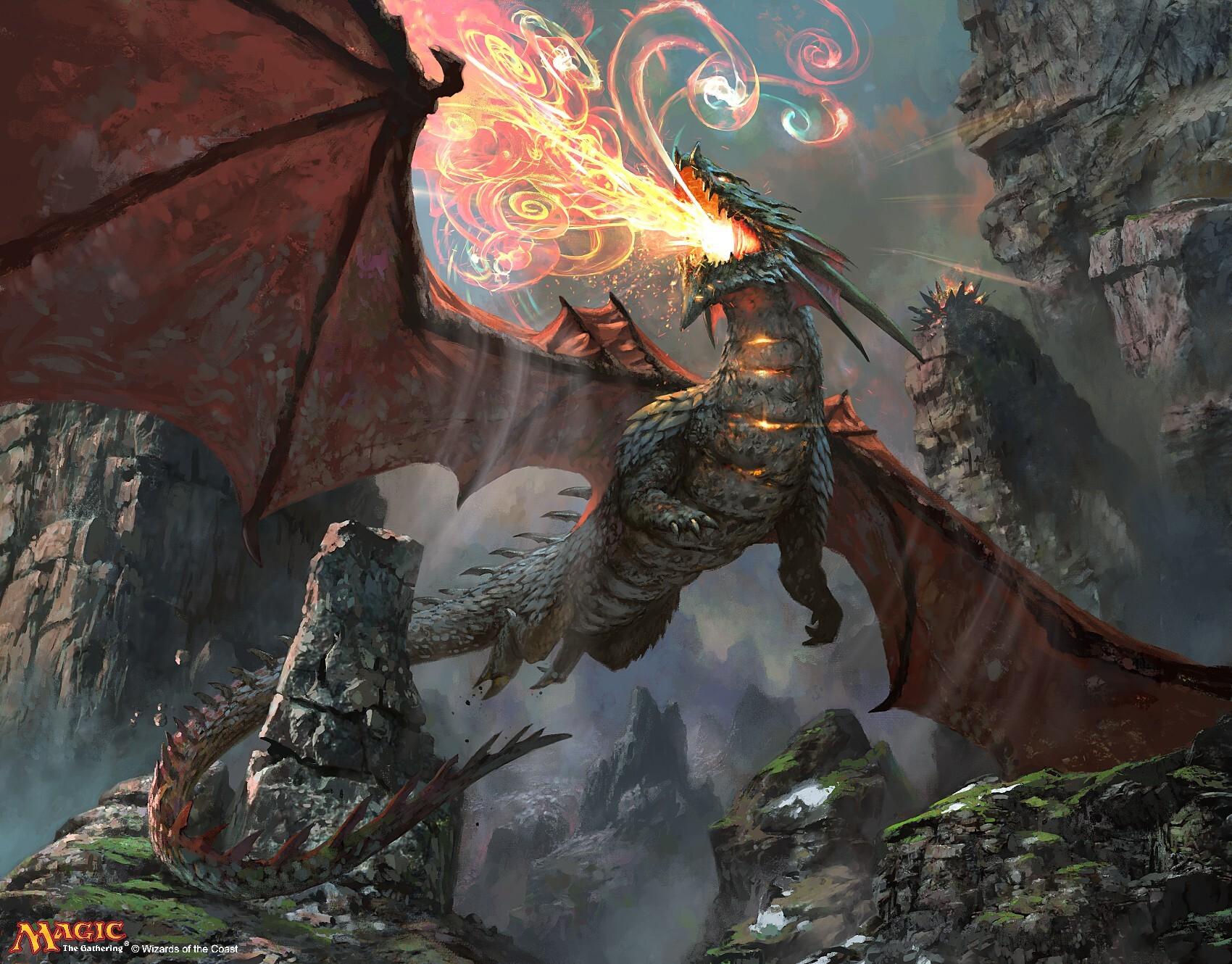 Ashmouth Dragon Art by Simon Dominic